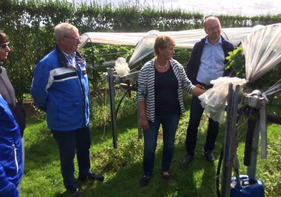 Burgemeester bezoekt Landschapspark Borsele
