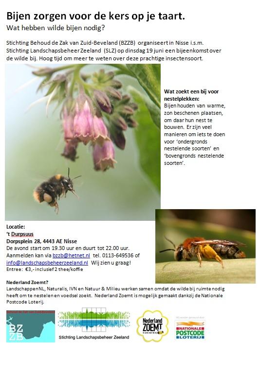 Bijen Bijeenkomst @ 't Durpsuus Nisse | Nisse | Zeeland | Nederland