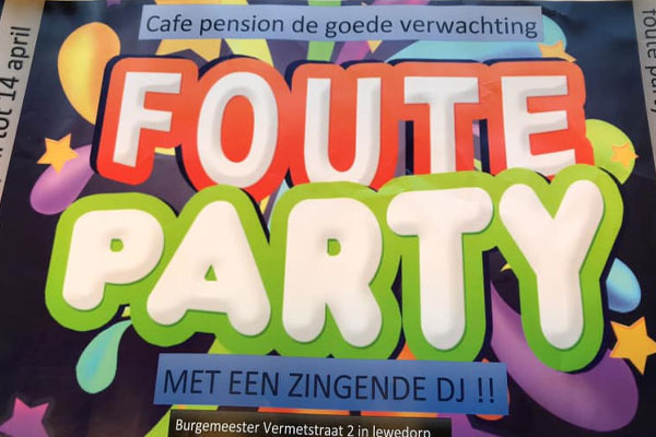 Foute party Lewedorp