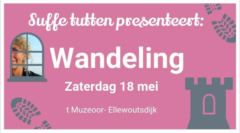 Suffe tutten wandelen in Ellewoutsdijk