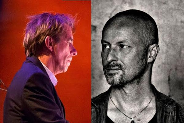 Peter Slager (BLØF) en Douwe Eisenga in 't Kerkje van Ellesdiek