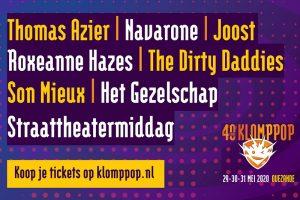 Klomppop Festivalweekend @ Sportpark Ovezande | Ovezande | Zeeland | Nederland